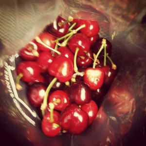 Local cherries I bouth in Arrowtown, picked fresh yesterday