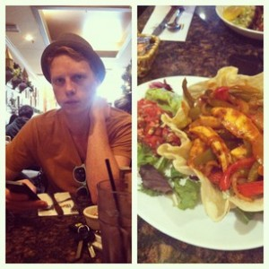 Lunch with my love. Chicken Fajita Salad!
