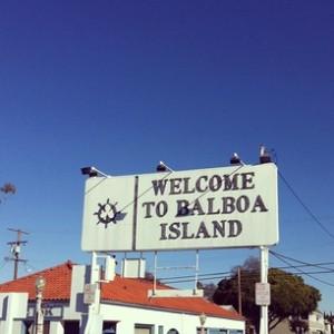 Ferried across to Balboa Island