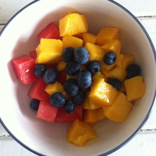 Watermelon, Mango & Blueberry salad