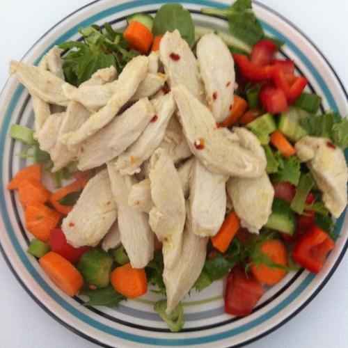 Chilli & Garlic Chicken Salad