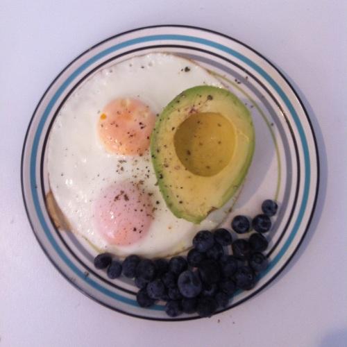 Eggs, Avocado, Blueberries